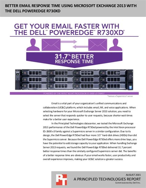 Better email response time using Microsoft Exchange 2013