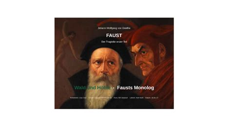 Wald und Höhle - Monolog - Faust by Lisa S